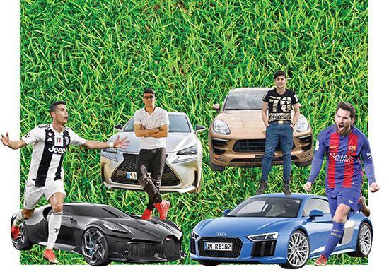 فوتبالیست های عشق ماشین سوار چه خودروهایی می شوند؟